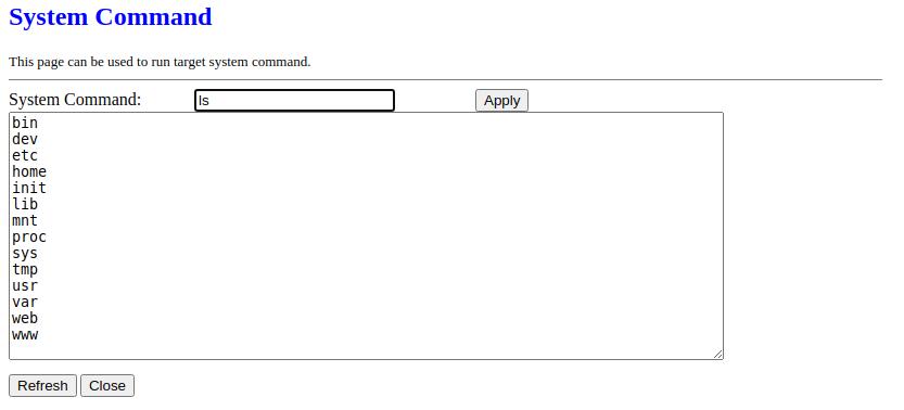 Realtek SDK formSysCmd form