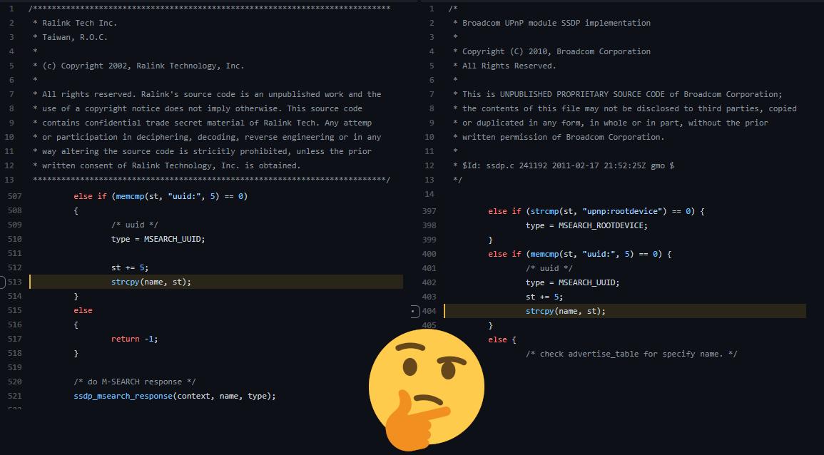 Ralink / Broadcom code similarities