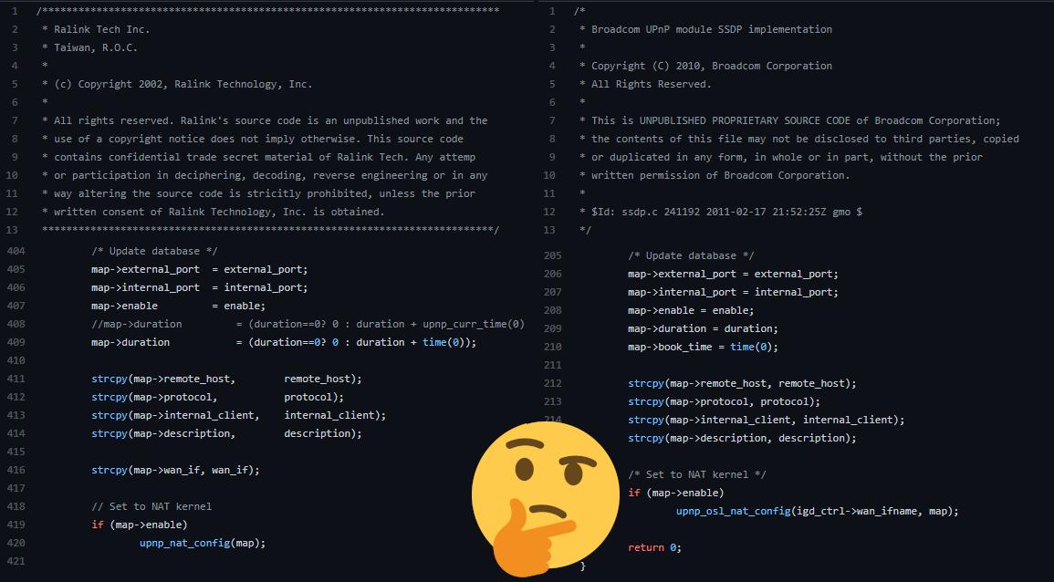 Ralink / Broadcom code similarities (2)